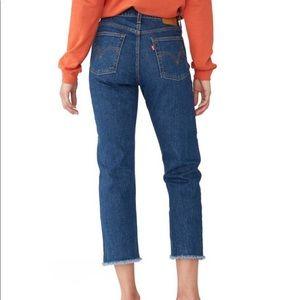 Levi's Wedgie Straight Jeans raw hem